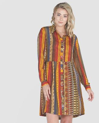Privilege Print Shirt Dress