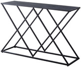 Pilaster Designs Greta Entryway Console Sofa Table, Black Metal Frame & Gray Wood Top