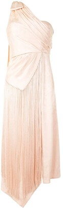 Jonathan Simkhai One-Shoulder Tasselled Dress