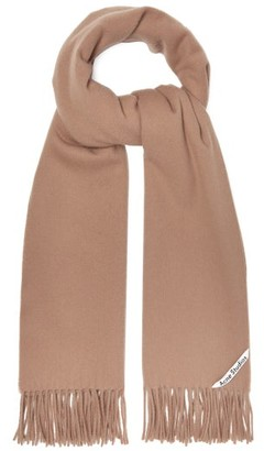 Acne Studios Canada Narrow New Fringed Cashmere Scarf - Camel