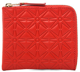 Comme des Garcons Star Embossed Small Zip Wallet