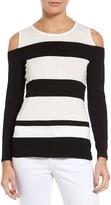 Vince Camuto Women's Stripe Cold Shoulder Top