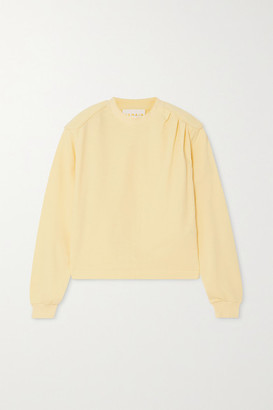 REMAIN Birger Christensen Rimini Gathered Cotton-jersey Sweatshirt - Pastel yellow