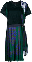 Sacai T-shirt dress with pleated skirt