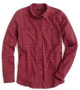 J.Crew Women's Gelder Brushed Flannel Boy Shirt