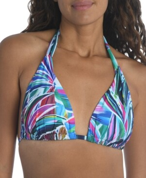 La Blanca Printed Halter Bikini Top Women's Swimsuit