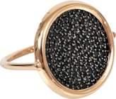ginette_ny Large black diamond disc ring