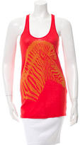 Torn By Ronny Kobo Sleeveless Zebra Top