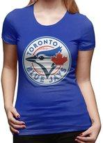Tqlah Women 2016 Baseball Toronto Blue Jays Tees RoyalBlue