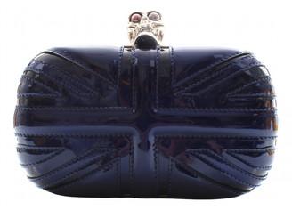 Alexander McQueen Skull Navy Patent leather Clutch bags