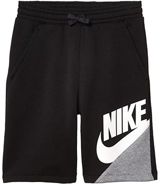 Nike Sportswear Core Amplify Shorts (Big Kids) (Black/Carbon Heather/White) Boy's Shorts