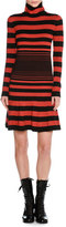 Tomas Maier Striped Mock-Neck Sweaterdress