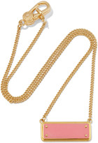 Marc by Marc Jacobs Gold-tone enamel necklace