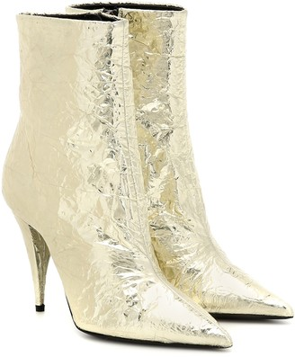 Saint Laurent Kiki 100 metallic ankle boots