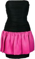 Saint Laurent Pre Owned strapless color block dress