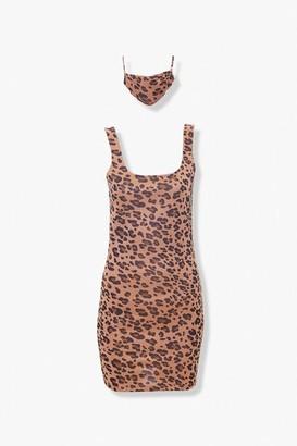 Forever 21 Leopard Dress Face Mask Set