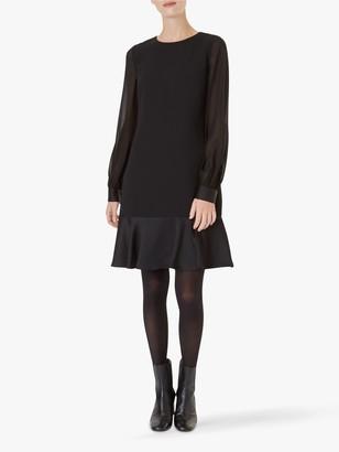 Hobbs Gloria Blouson Sleeve Dress, Black