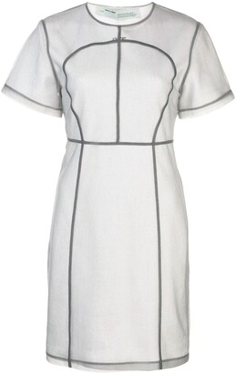 Off-White seam detail T-shirt dress