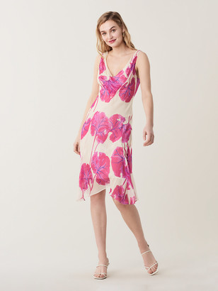 Diane von Furstenberg Dita Silk-Chiffon Knee-Length Dress