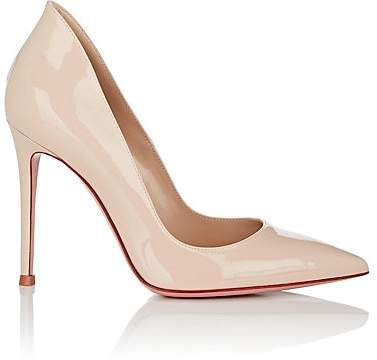 Gianvito Rossi Women's Ellipsis Patent Leather Pumps - Cream