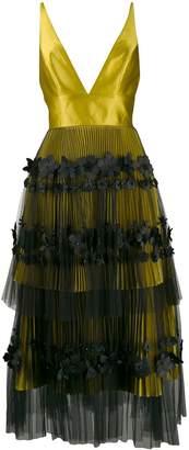 Viktor & Rolf Viktor&Rolf Soir flared flower-embellished dress
