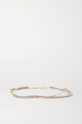 Chloé Crystal-embellished Gold And Silver-tone Belt - Black