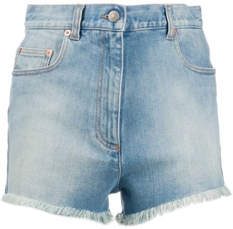 Gucci Fringed Denim Shorts