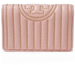 Tory Burch Fleming Studded Quilted Leather Wallet