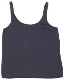 Folk Dark Blue Scoop Back Vest Top - 1