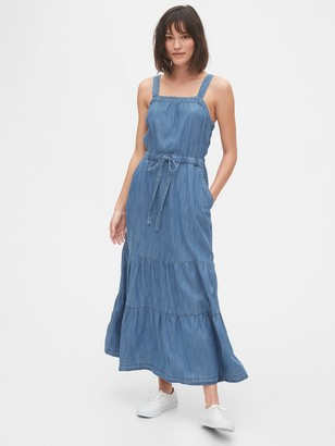Gap Apron Maxi Dress in TENCEL