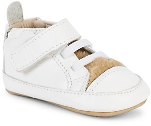Old Soles Baby Girl's Aussie Faux Fur-Lined Leather Sneakers