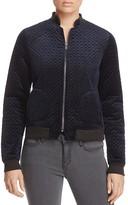 Vero Moda Bridget Quilted Velvet Bomber Jacket