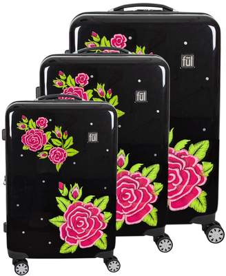 Ful FUL Printed 3-Piece Hardside Spinner Luggage Set