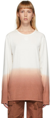 Marine Serre Off-White and Orange Dip-Dye Long Sleeve T-Shirt