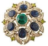 Sequin Crystal Brooch Pin