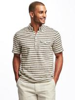 Old Navy Slim-Fit Linen-Blend Popover Shirt for Men