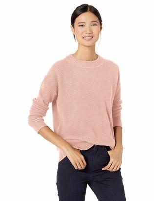 Goodthreads Wool Blend Thermal Stitch Crewneck Sweater Pullover Light Grey Heather XL