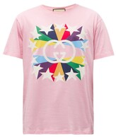 Thumbnail for your product : Gucci Rainbow Star-print Cotton-jersey T-shirt - Pink