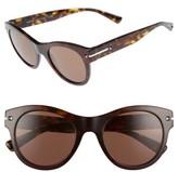 Valentino Garavani Women's Valentino 51Mm Round Sunglasses - Dark Havana