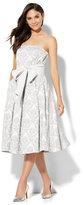 New York & Co. Jacquard Strapless Dress - Tall