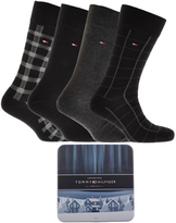 Tommy Hilfiger 4 Pack Socks Black