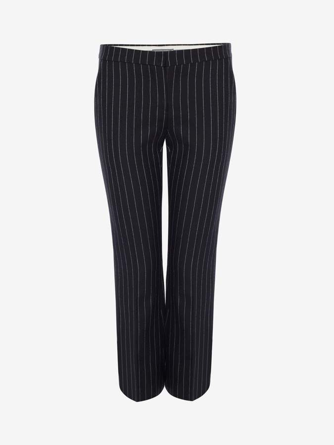 Alexander McQueen Pinstripe Kickback Pants