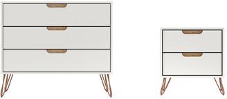 Manhattan Comfort Rockefeller Dresser & Nightstand Set