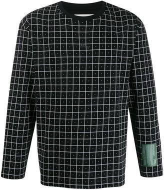 A-Cold-Wall* Grid-Print Sweatshirt