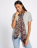 Marks and Spencer Pure Silk Animal Print Scarf