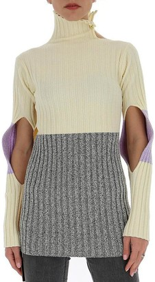MONCLER GENIUS Moncler 1952 Slit Sleeves Contrasting Panelled Sweater