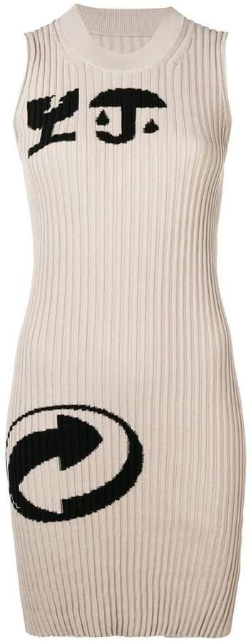 Maison Margiela cartoon-print ribbed dress