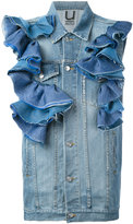 Aviu ruffled denim gilet