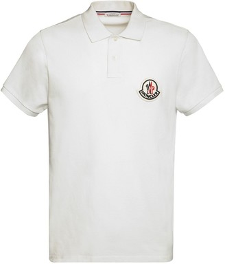 Moncler Big Logo Patch Cotton Polo Pique