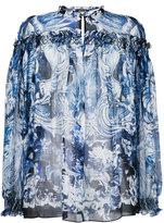 Roberto Cavalli printed smock blouse